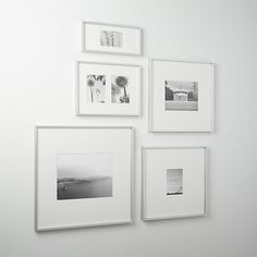 Shop gallery brushed silver picture frames. Brushed aluminum frames white mats for gallery presentation of photos or images.