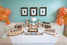 baked porridge topped with maple frosting and cinnamon, marzipan acorns, honey cupcakes, chocolate covered bear pops, bear sugar cookies, an...