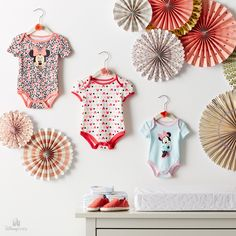 Why lock their outfits away in a closet when you display them so gorgeously? Cute Princess, Princess Outfits, Little Princess, Disney Baby Clothes, Baby Disney, Little Baby Girl, Little Babies, Disney Specials, Baby Girl One Pieces