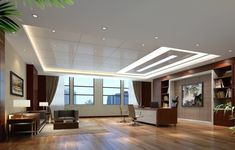 CEO office French window and ceiling design Chinese style Ceiling Style | Interior Design and Decorating Ideas