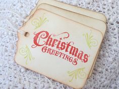 Stamped Christmas gift tags stamped Christmas by WildSugarberries