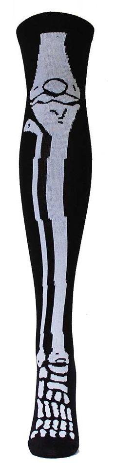 b37301d8ac7 Skeleton Over the Knee Socks Funky Socks