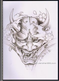 Idea for eye configuration of one pupil one kind of pearled out Oni Tattoo, Hannya Maske Tattoo, Mask Tattoo, Irezumi Tattoos, Geisha Tattoos, Tattoo Sketches, Tattoo Drawings, Body Art Tattoos, Sleeve Tattoos