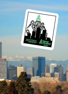 A giant robot is heading towards Denver, fueled by startups and the Internet of Things for Startup Weekend Denver, in the form of a sweet custom sticker.