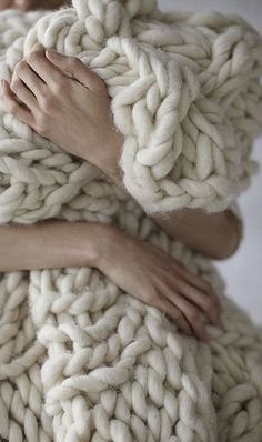 love white crochet blanket. so huge!