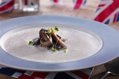 mushroom soup with coriander cress recipe