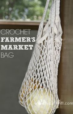 Love this crochet market tote! #crochet #bag #tote