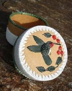 Hummingbird Porcupine Quill Basket | My love for Humming birds
