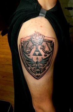 Hylian Shield Tattoo by ~Sirius-Tattoo on deviantART