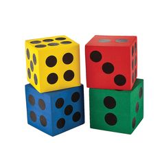 Jumbo Playing Dice - OrientalTrading.com (Now that looks interesting. I wonder what my kids will think if I buy them ;) and I am not sure if I am ordering for them or for myself...lol