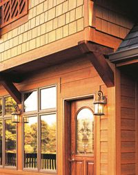 1000 images about log homes on pinterest fiber cement for Stained fiber cement siding