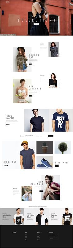 Luxer is a creative premium #PSD template for multipurpose #ecomerce website with 6 unique homepage layouts download now➩ https://themeforest.net/item/luxer-creative-multipurpose-psd-template/18841648?ref=Datasata