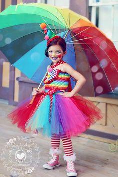 Girls Circus Tutu Dress Clown Costume Circus Costume Clown