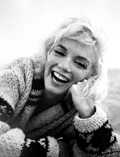 Marilyn Monroe...she was most beautiful when she was comfy and candid :)