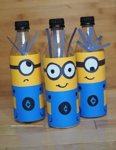 DIY Recycled Minions Bowling Game {And Minions Party Ideas}