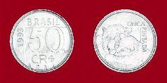 Cruzeiro Real (1993) Moeda: 50 cruzeiros reais - onça-pintada
