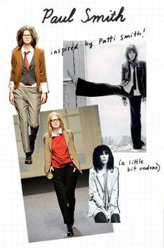 Paul Smith give me this! androgynous style inspired by a rock goddess ;)- give me this