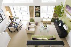 Square Living Room decor