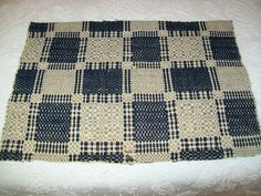 "Antique Indigo Blue Natural Coverlet Piece Square Design 1800's 16 x 23"" | eBay"