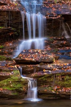 """""""Toms Branch Falls"""" at the Great Smoky Mountains National Park."""