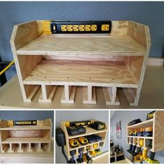 Charging station/tool holder More - My Woodworking Shed