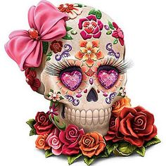 sugar skull...So Cute!! Even for a tattoo to!! SLVH ❤❤❤