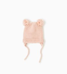 Basic pompoms hat-NEW IN-BABY GIRL   3 months-3 years-KIDS   ZARA United States