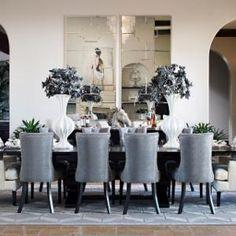 Dining room elegance! #styleonashoestringdesign #interiordesign #diningroom #zgallerie