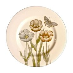 Fitz & Floyd Pastel Poppy Salad Plates - Set of 10 - $200 Est. Retail - $175 on Chairish.com