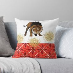 'lion abstract ' Throw Pillow by Scatter Cushions, Throw Pillows, Beautiful Artwork, Your Best Friend, Pattern Design, Print Patterns, Art Prints, Abstract, Printed