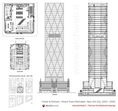 Hearst Tower, Manhattan NYC (2003-06) | Foster + Partners | Archweb 2D