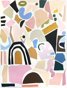 Artist, illustrator, designer and prop stylist Ashley Mary.   Reminds me of Henri Matisse: The Cut-Outs.