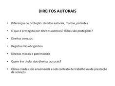 Conteúdo do encontro com Guilherme Carboni sobre questões jurídicas na produção cultural. Curso Produção Cultural Projecta + Palco de Papel - Edição 2013