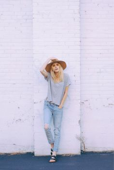 Stylish Fall Outfits For Women Chapeau Cowboy, Looks Jeans, Summer Outfits, Casual Outfits, Fall Outfits, Outfits Mujer, Mein Style, Mode Chic, Moda Fashion