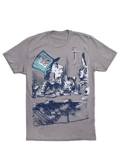 Look what I found from Out of Print! Alice in Wonderland men's book t-shirt – Out of Print #OutofPrintClothing