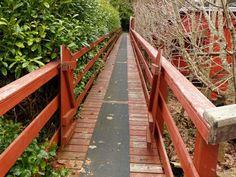 Red boardwalk in Bamfield