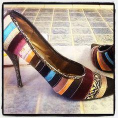 Mod Podge Glitter Shoes #crafts #modpodge #glitter #diy