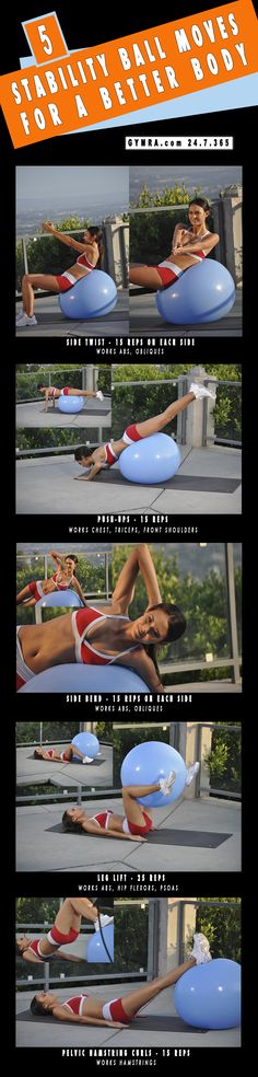 Total Body Workout With Stability Ball. Transform yourself & Your life, get fit & healthy. Start your free month now!!! Cancel anytime. #fitness #workout #health #exercise #gymra