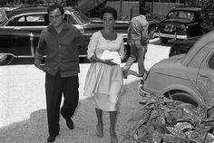 Liz Taylor y su tercer marido Mike Todd