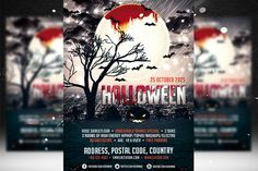 Halloween Flyer Template 2 by Ciusan on Creative Market
