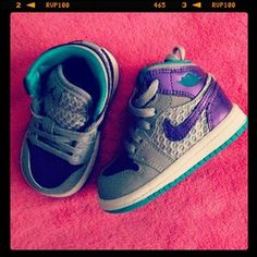 Baby Dunks #NIKE #Jordans OMG @Mary Ivey I think little Roman will need these!