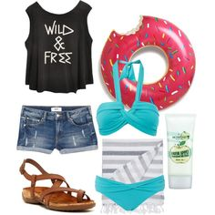 Pool party weekend?! Take Autumn! by bearpawstyle on Polyvore featuring Seafolly, MANGO, Bearpaw and Skinfood