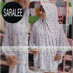 Saralee... jilbab syar'i nyaman dan dingin. Bahan spandek balon motif bunga