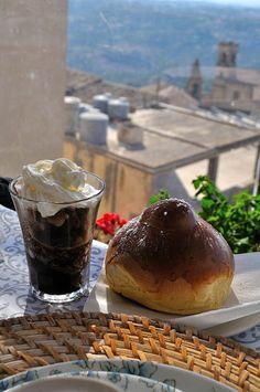 A granita di caffè con panna & brioche col tuppo ~ Caltagirone, Sicily by baptisteries