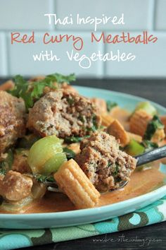 A low carb and gluten free Thai-inspired meatball recipe that your family will love! Packed with flavor, lots of veggies, & healthy fats what's not to like?