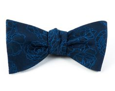 HOLIDAY TONAL FLORAL BOW TIES - BLUE | Ties, Bow Ties, and Pocket Squares | The Tie Bar