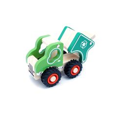 Wooden Recycle Truck. Great for interactive play and collection.