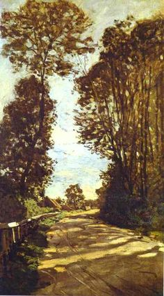 Road to the Saint-Siméon Farm by Claude Monet.