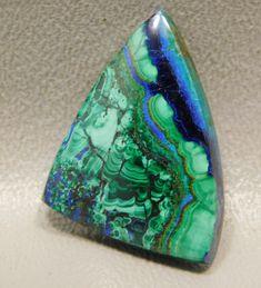 Amazing Quality 38 Cts Azurite Malachite Chrysocolla 21*28 MM Pear Shape Green Blue Azurite Malachite Chrysocolla Flat Back Cabochon