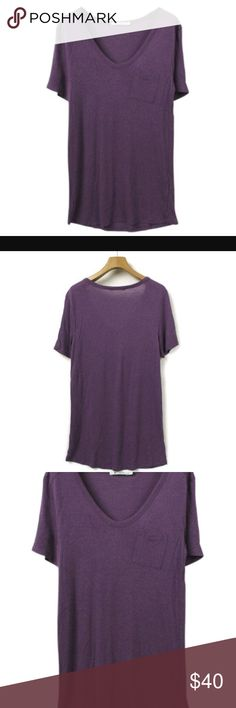 T by Alexander Wang Selling size small purple T by Alexander Wang from Nordstrom! I have worn maybe 3 times. No issues, slightly oversized Alexander Wang Tops Tees - Short Sleeve